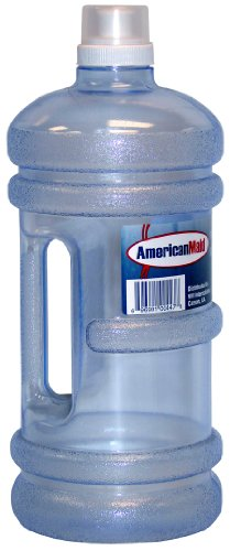 VMI Housewares Water Bottle, 72-Ounce, Clear Blue