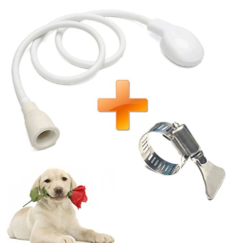 Pet Faucet Sprayer, Dog Shower Head Spray Drains Strainer Pet Bath Hose Sink Washing Hairdresser Hair Wash Pet Push Saving Shower with Adjustable Stainless Steel Worm Gear Hose Clamps(2pc) by Plage