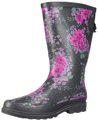 Floral Western Boots - Western Chief Women Women's Wide Calf Rain Boot, Floral Home, 8 M US