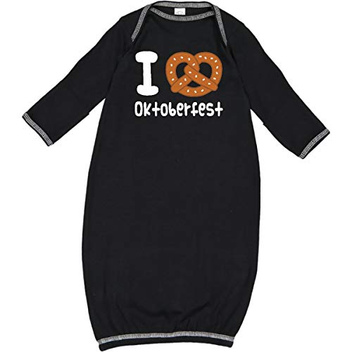 inktastic - Oktoberfest Pretzel Fun Holiday Newborn Layette Black 2c7db