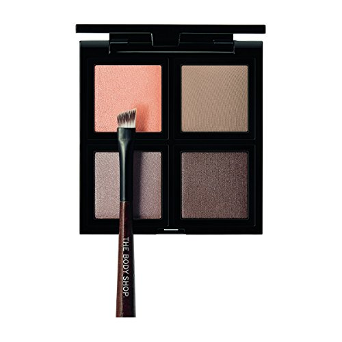 The Body Shop Down To Earth Eyeshadow Quad, Brown, 0.28 (Brown Eyes Body)