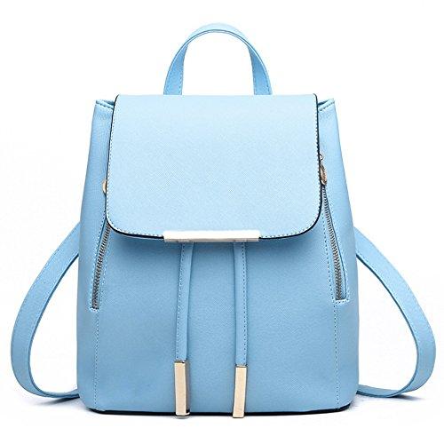 Women Backpack, KINGH Fashion Shoulder Bag PU Leather Women Backpack Travel bag 246 Blue
