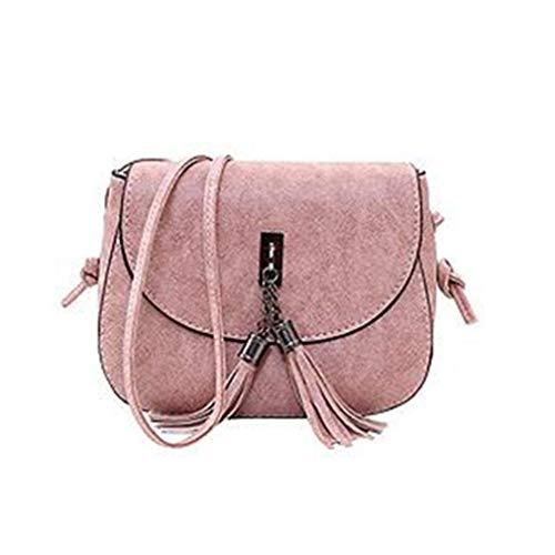 5x5 Cruzado Bolso de de Borla del Pink Las Mujeres Mujeres de Bolso 5x14cm Mensajero los de Bolsos Pink 18 Las la del Hrd5wr