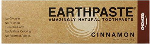 Redmond Earthpaste - Natural Non-Flouride Toothpaste, Cinnamon, 4 Ounce Tube