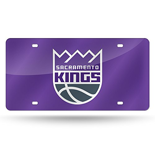 Rico Industries NBA Sacramento Kings Laser Inlaid Metal License Plate Tag (Goods Home Sacramento)