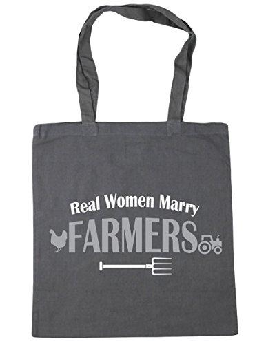 HippoWarehouse Echte Damen Marry Farmers Einkaufstasche Fitnessstudio Strandtasche 42cm x38cm, 10 liter - Graphitgrau, One size