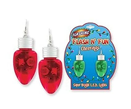 Amazon.com: Christmas Novelty Light up Bulb Earrings - colors may ...