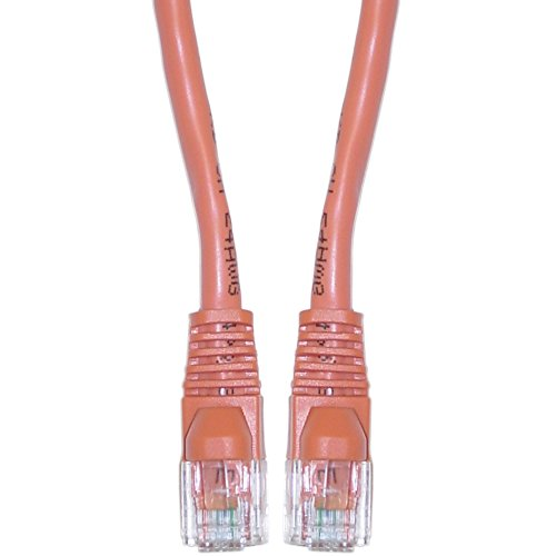 Offex Cat6 Ethernet Crossover Cable, Snagless/Molded Boot, 14-Foot, Orange (OF-10X8-33314)