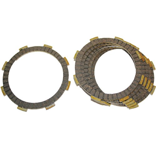 Caltric FRICTION CLUTCH PLATE Fits HONDA CMX250 CMX-250 CMX250C REBEL 250 CMX250C2 1985-2012 6-PLATES - Clutch Friction