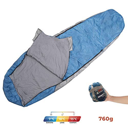Sleepmate 15 Ultralight Sleeping Bag – Mummy Style, Extremely Portable – Ideal for Camping, Hiking, Traveling, Backpacking, with Compression Sack, Temperature +10 °C to +15 °C, 680g ONLY Price & Reviews