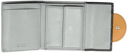 BREE Damen Issy 127, Ocre/Sil. Gr./Bl, Wallet W17 Geldbörse, Mehrfarbig (Oc Silv. Grey Black), 9x1.5x10 cm