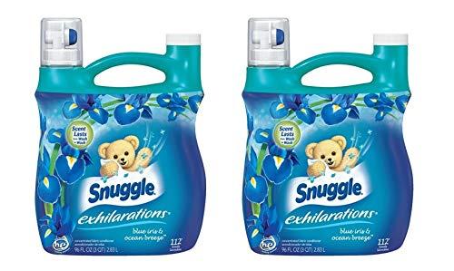 Snuggle Exhilarations''Blue Iris'' Fabric Softener Liquid, 96 Fl Oz, 112 Loads (Pack of 2)