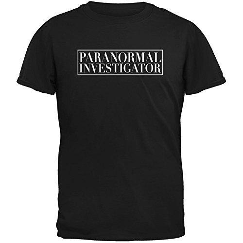 Halloween Paranormal Investigator Black Adult T-Shirt - (Paranormal Investigator Costume)
