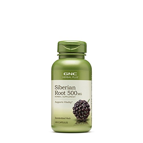 GNC Herbal Plus Siberian Root 500mg, 100 Capsules, Supports ()