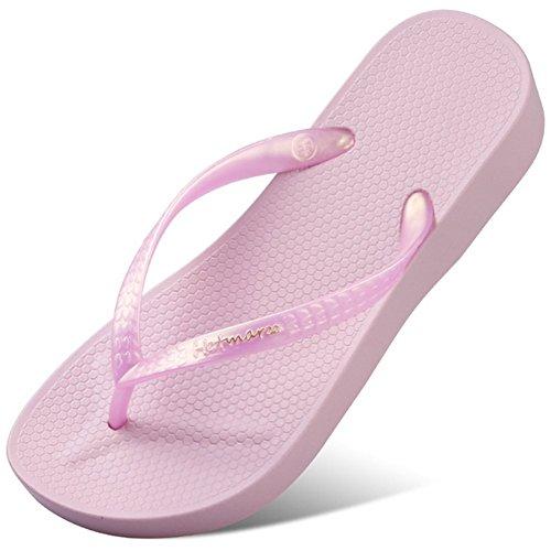 Infradito Sandali Altezza Flops Flip 3 Donne Estate Con Tacco 5 Pink Centimetri Havaianas Spiaggia 7FzwpxRCzq