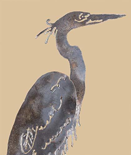 Blue Heron Bird Design Hand plasma Cut Hand Saw Metal Art