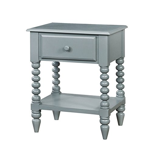 HOMES: Inside + Out IDF-AC323GY Dida Nightstand Childrens, Gray by HOMES: Inside + Out