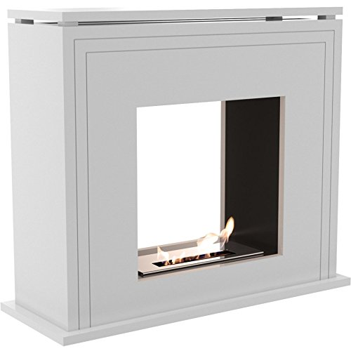 Domadeco Amarillo tunell - white free standing designer bio fireplace/contemporary fireplace/Fuel ethanol fireplace
