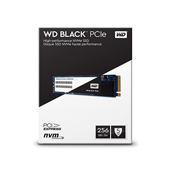 WD Black 256GB Performance SSD - 8 Gb/s M.2 PCIe NVMe Solid State Drive – WDS256G1X0C [Old Version] 5 Sequential read speeds up to 2050 MB/s - more than 3 times faster than a SATA SSD Optimized thermal and power management to help maintain consistent high performance during intense workloads Industry-leading 1.75M hours Mean Time To Failure (MTTF) for lasting reliability