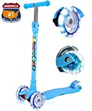 Kick Scooter For Kids 3 Wheel Lean To Steer Adjustable Height Extra Wide