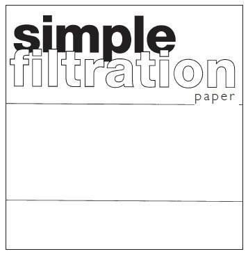 LABORATORY GENERAL PURPOSE FILTER PAPER 110MM SMITH
