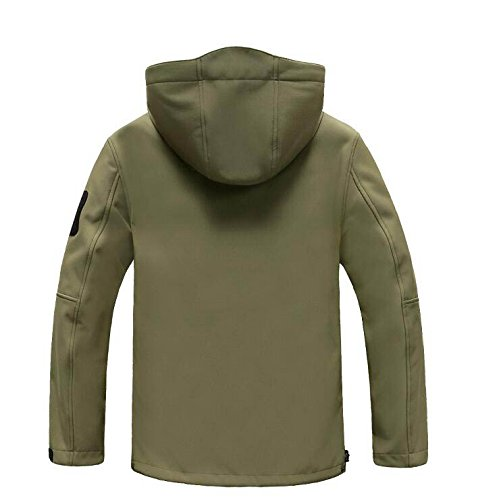 Chaqueta Softshell Deportes al Aire Libre de Chaqueta los Hombres Chaqueta Impermeable Chaqueta de (Color : Verde, Tamaño : L) 9b9e83