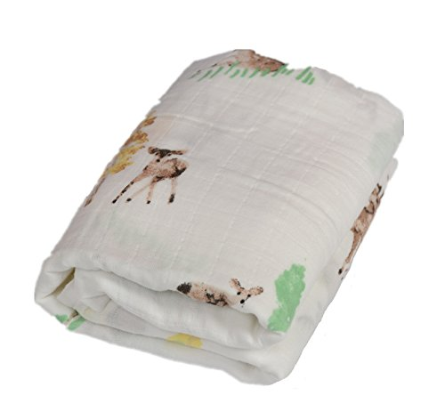 Blankets Large Silky Soft 70% Bamboo Fiber 30% Cotton,47x47 Inches (Elk) ()