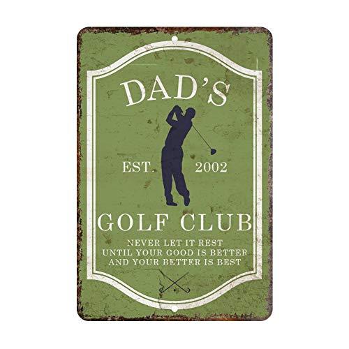 popeven Vintage Distressed Look Mens Golf Club Personalized Aluminum Metal Tin Sign Wall Art Decorative Door Sign 18 x 12 -