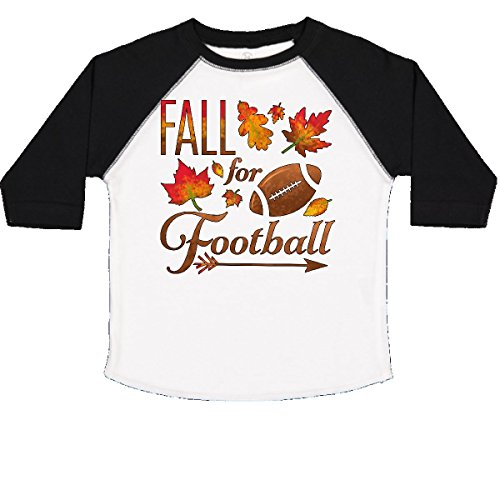 - inktastic - Fall Football Toddler T-Shirt 2T White Black 2c161