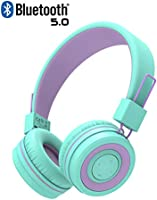 iClever BTH02 Kids Headphones, Kids Wireless Headphones with MIC, 22H Playtime, Bluetooth 5.0 & Stereo Sound, Foldable,...