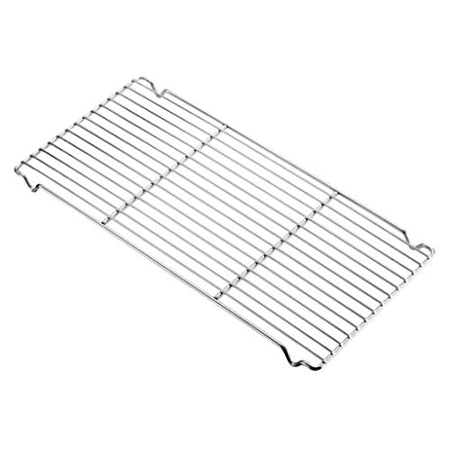 SM SunniMix Stainless Steel Cooling Rack Baking Rack, Fit Various Size Cookie Sheets Pan, Heavy Duty Oven & Dishwasher Safe - Big Grid Cue Heavy Duty Round Rack