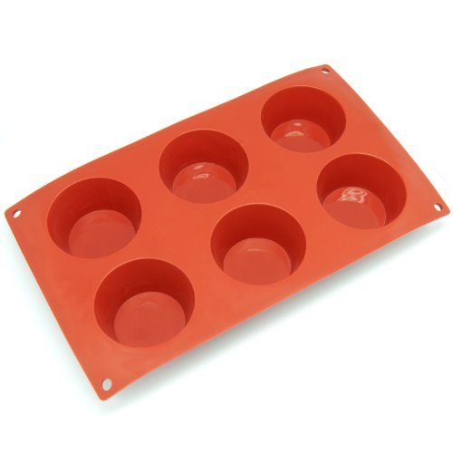 Freshware Cavity Egg Shape Silicone Mold for Soap, Cake, Bread, Cupcake, Cheesecake, Cornbread, Muffin, Brownie, and (Cavity Oven)