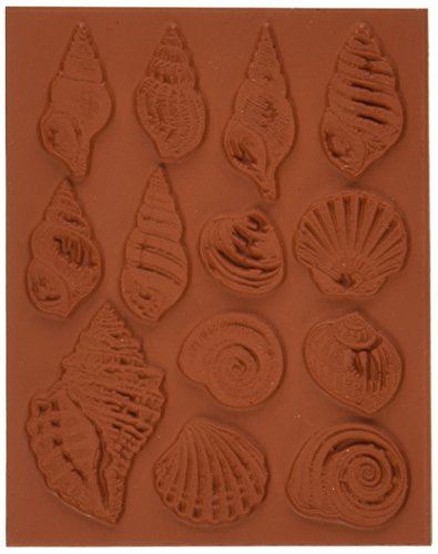 Deep Red Stamps Seashell Collection Rubber - Of Seashells Collection