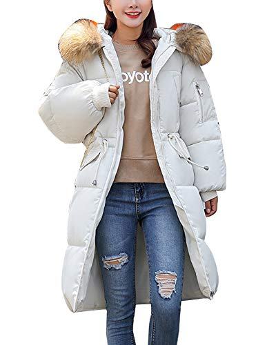 Warm Overcoat Capispalla Jacket Women Coat Long Shaoyao Down Addensato Beige Winter Parka Imbottito xnf0qqOYwH