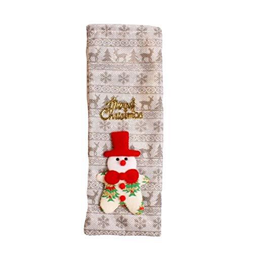 FANRENYOU Christmas Decor for Home Xmas Wine Bottle Bag Cover Santa Claus Deer Bottle Clothes Silver - Silver Snowmen