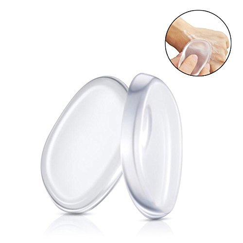 Boolavard® 2 Pack Silicone Makeup Sponge [Washable] Premium Quality - Gel Foundation Makeup and Puff BB - Best Silisponge Cosmetic Beauty Tools Blender [Clear] Boolevard Cosmetics Limited
