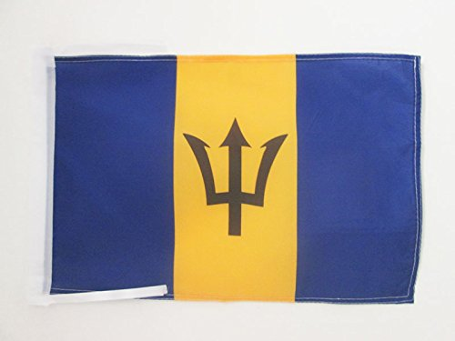- AZ FLAG Barbados Flag 18'' x 12'' Cords - Barbadian Small Flags 30 x 45cm - Banner 18x12 in