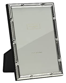 Silver Plate Bamboo Photo Frame 5x7 Addison Ross 5 x 7 Inches FR0607