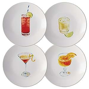 Rachael ray vajilla c cteles 4 piezas cer mica juego de fiesta plato varios colores - Platos ceramica colores ...