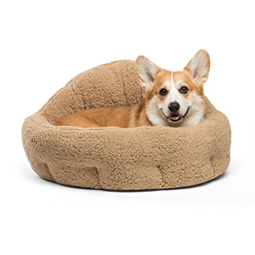 Best Friends by Sheri OrthoComfort Deep Dish Cuddler (20x20x12') - Self-Warming  Cat and Dog Bed, Brown