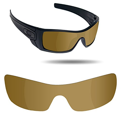 Fiskr Anti-Saltwater Replacement Lenses for Oakley Batwolf Sunglasses - Various Colors (Bronze Gold - Anti4s Mirror Polarized, 0) -