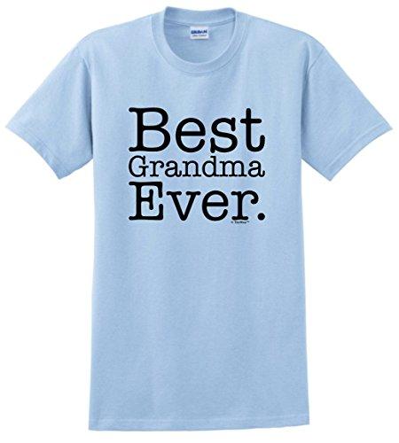 Gift for Grandma Best Grandma Ever T-Shirt 3XL Light Blue