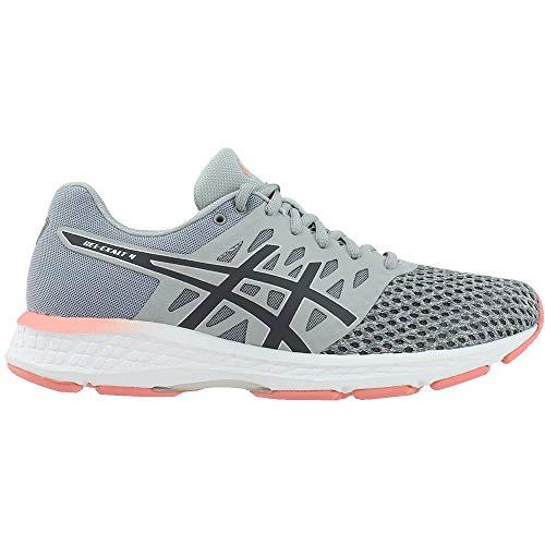 amp; pink Mujeres Bajos Grey Medios Exalt Talla Gel carbon Asics Zapatos Para Cordon 4 Correr 6dSXXw