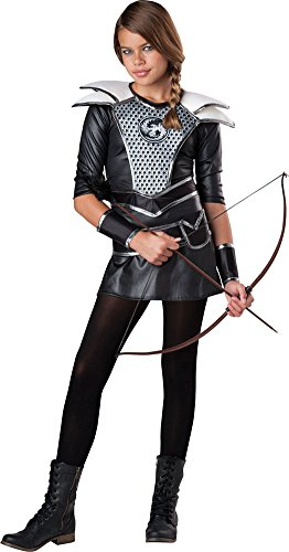 Women's Midnight Huntress Costumes (Girls Halloween Costume- Midnight Huntress Kids Costume Large 12-14)