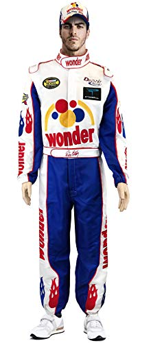 OEM Ricky Bobby Nascar Jumpsuit + Cap Full Costume Talladega Nights, Mix, X-Large