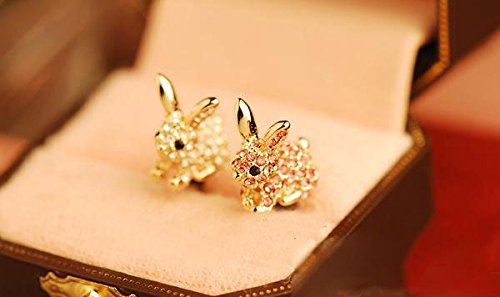 ZOEAST(TM) Luxury Bling Rabbit Cat Dust Plug 3.5mm Phone Headphone Jack Earphone Ear Cap Dust Plug Charm iPhone 4 4S 5 5S 6 6S 7 Plus Huawei Samsung iPad iPod (Rabbits (Rabbit Dust)