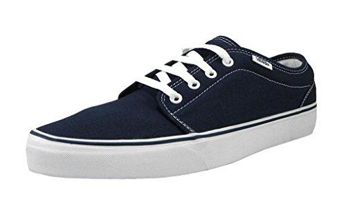 Vans Mens Sneakers 106 Vulcanized Skate Shoes Navy Blue/White