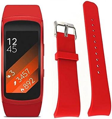 Sannysis Banda de reloj de silicón para Samsung Gear Fit 2 SM-R360 ...