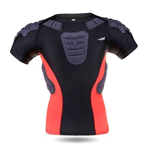 Padded Compression Sports Short Shirt,Basecamp Mens Boys ...