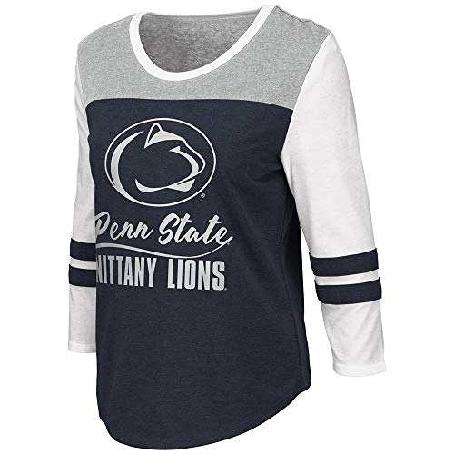 Womens Penn State Nittany Lions Palermo 3/4 Sleeve Tee Shirt - XL